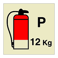 12kg Powder Fire Extinguisher (Marine Sign)