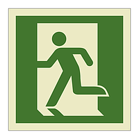 Emergency Exit Running Man Left symbol (Marine Sign)