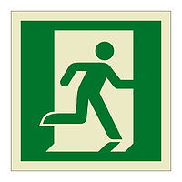 Emergency Exit Running Man Right symbol (Marine Sign)
