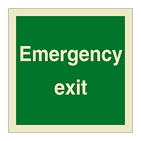 Emergency Exit (Marine Sign)