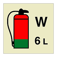 6L Water Fire Extinguisher IMO Sign (Marine Sign)
