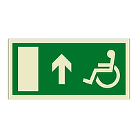 Escape Route Wheelchair with Arrow Up (Marine Sign)