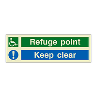 Refuge Point Keep Clear (Marine Sign)