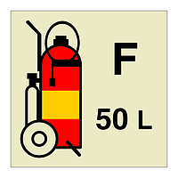 50kg Foam Wheeled Fire Extinguisher (Marine Sign)