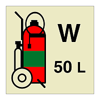 50kg Water Wheeled Fire Extinguisher (Marine Sign)