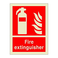 Fire Extinguisher with Text (Marine Sign)