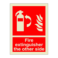 Fire Extinguisher the other side (Marine Sign)