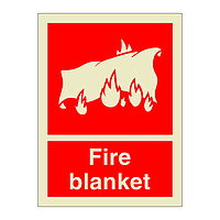 Fire Blanket with Text (Marine Sign)