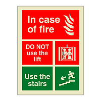 In Case of Fire Do Not Use the Lift (Marine Sign)