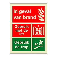In Case of Fire Do Not Use the Lift Dutch (Marine Sign)