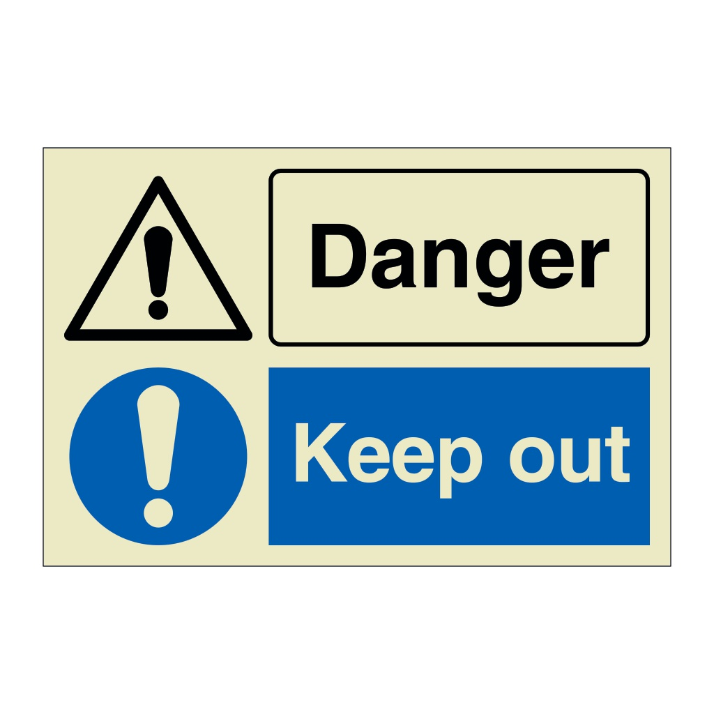 Danger Keep Out (Marine Sign)