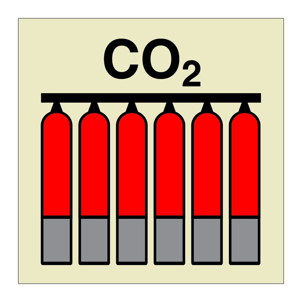CO2 Fixed Fire Extinguishing Battery (Marine Sign)
