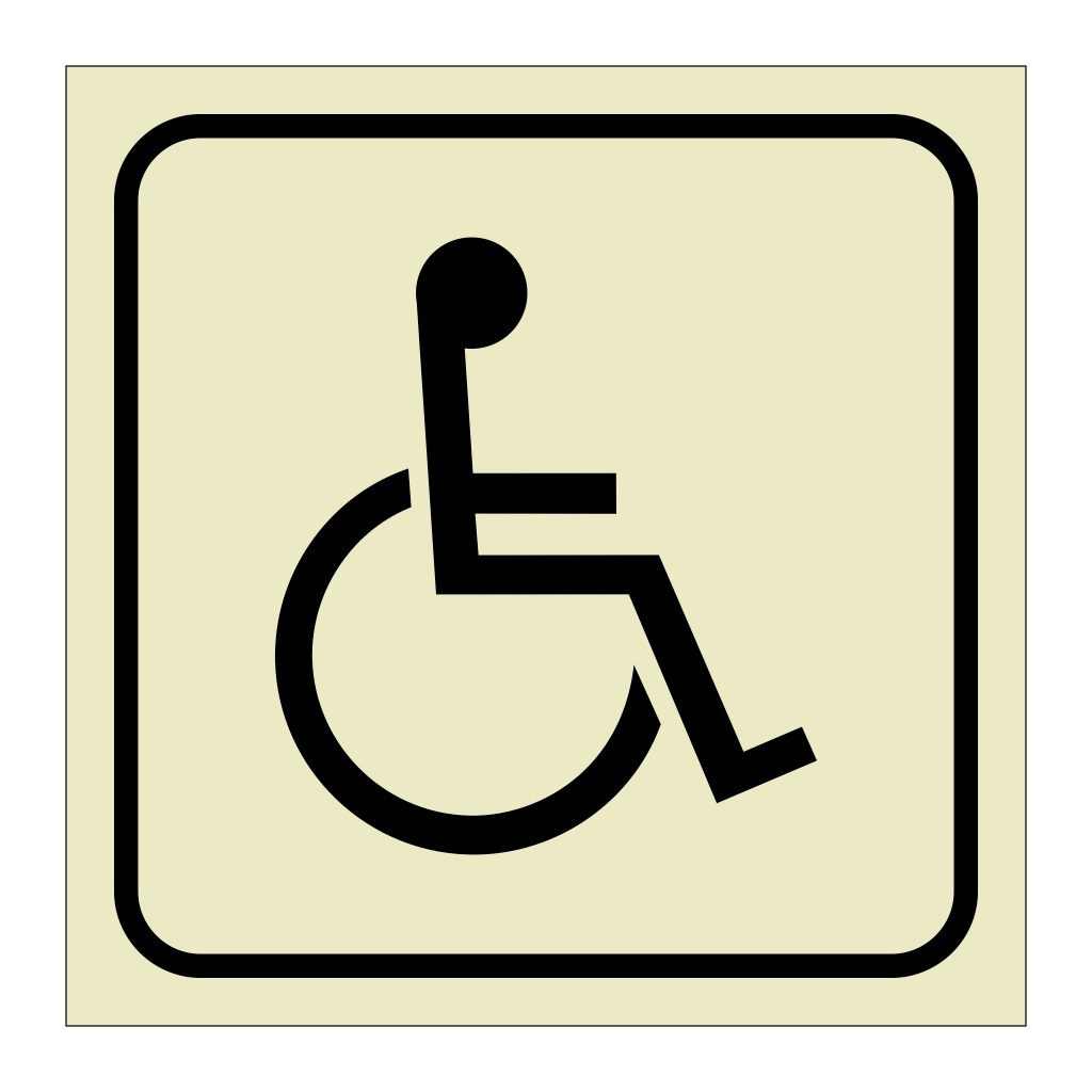 Access for Disabled Persons (Marine Sign)