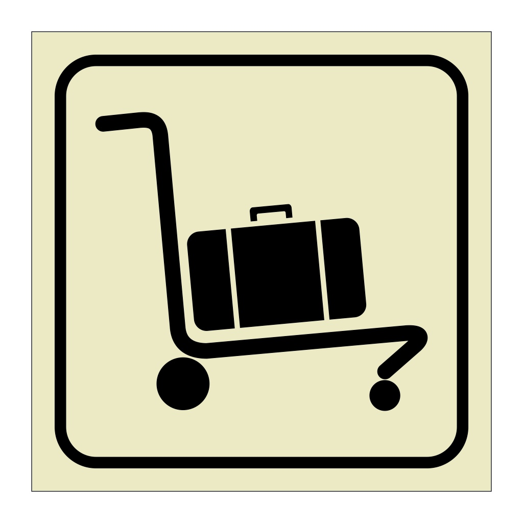 Baggage Cart Trolley (Marine Sign)