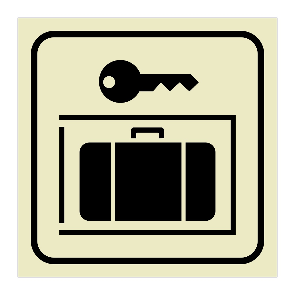 Baggage Lockers (Marine Sign)